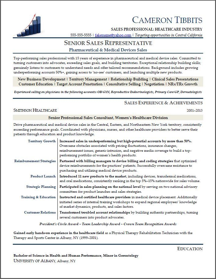 Resume sample for pharmaceutical sales -    resumesdesign - sample healthcare executive resume