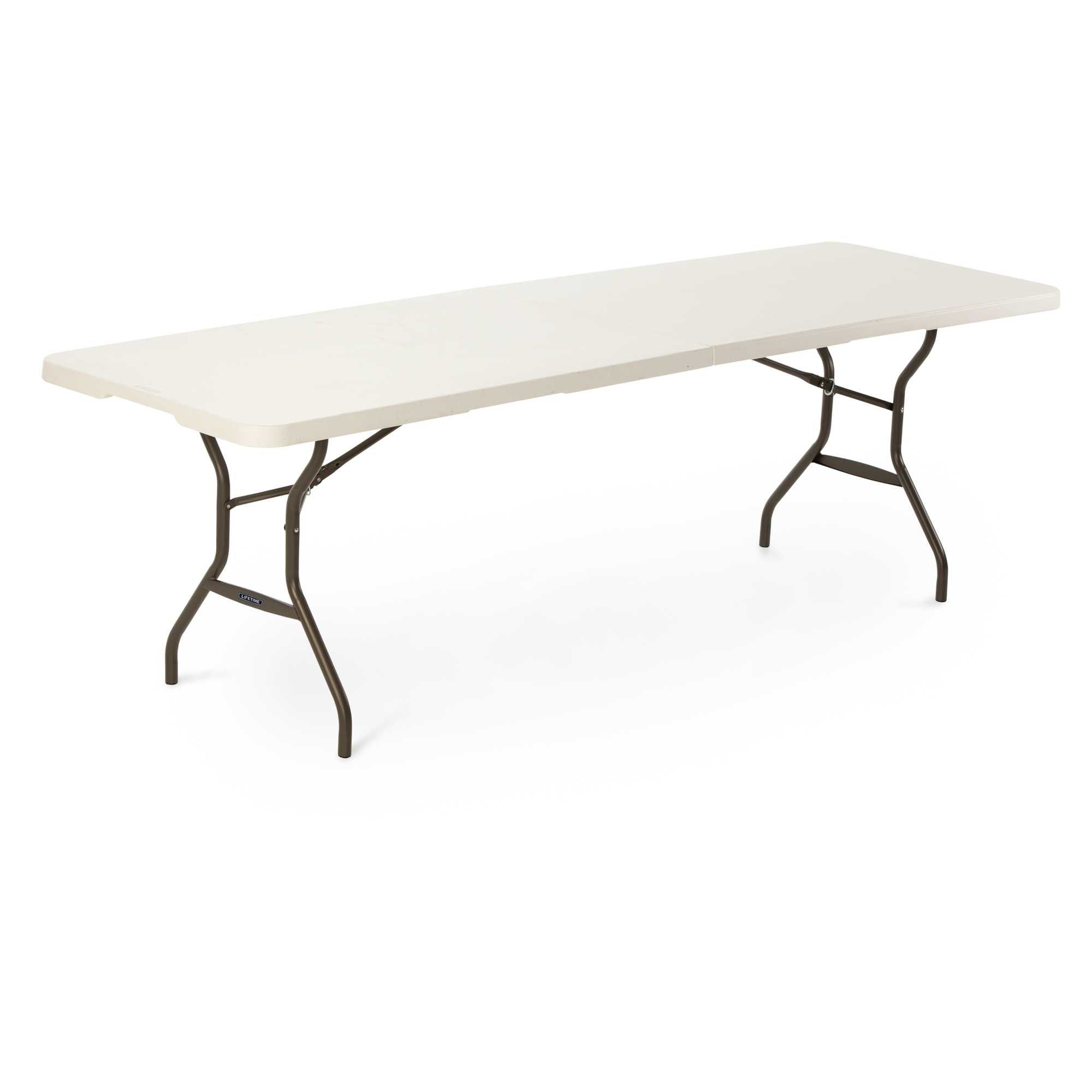 Pin By Competitive Edge Products Inc On Lifetime Eight Foot Fold In Half Tables Lifetime Tables Folding Table Table Top Frame