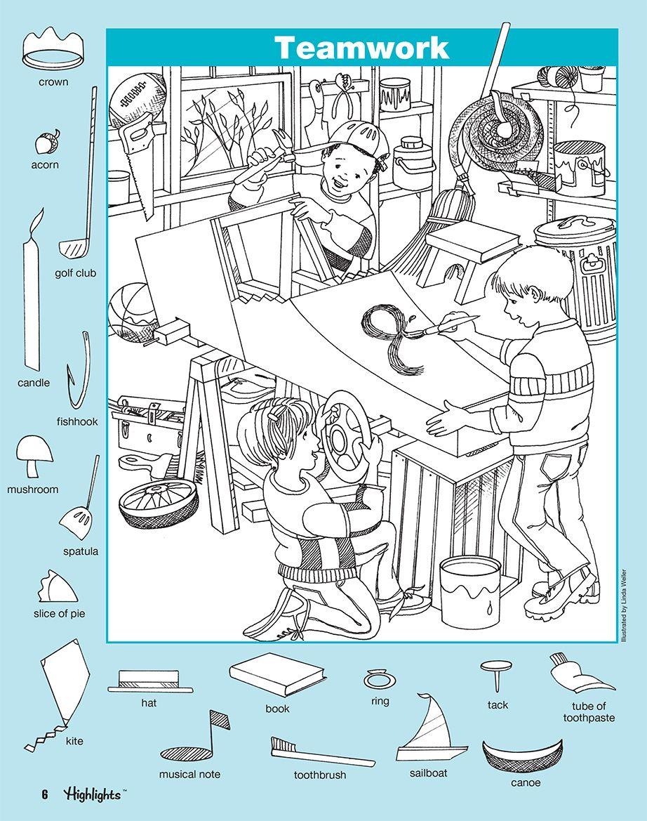 Hidden Pictures Series 6 Bk 2 5 Jpg 922 1169 Boyama Sayfalari