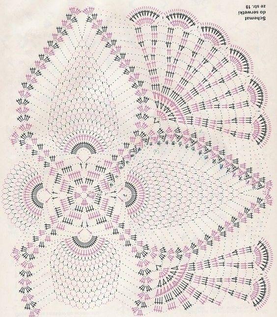Hermoso patrón de crochet para mantel. | Manteles/Cortinas Patrones ...