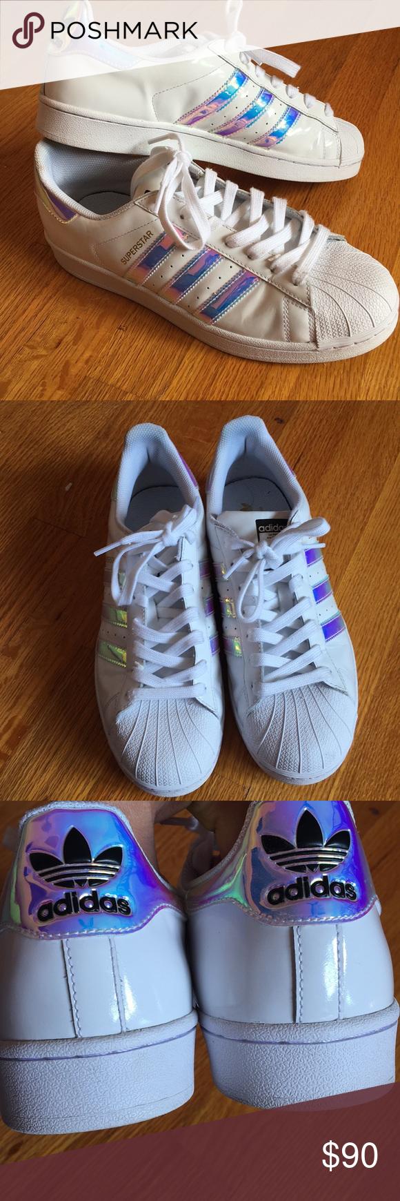 adidas iridescente bianco super star scarpe pinterest