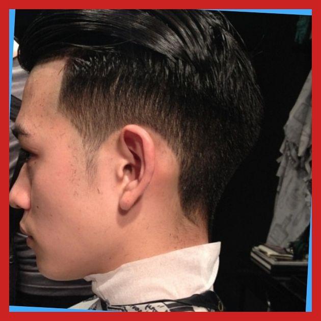 Asian hair sticks out