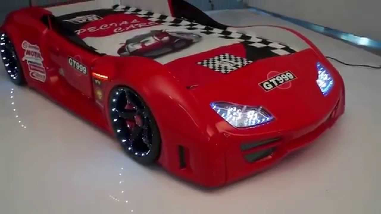 Supercar Hot Red GT999 Race Car Bed with LED light USA | Coolest ...