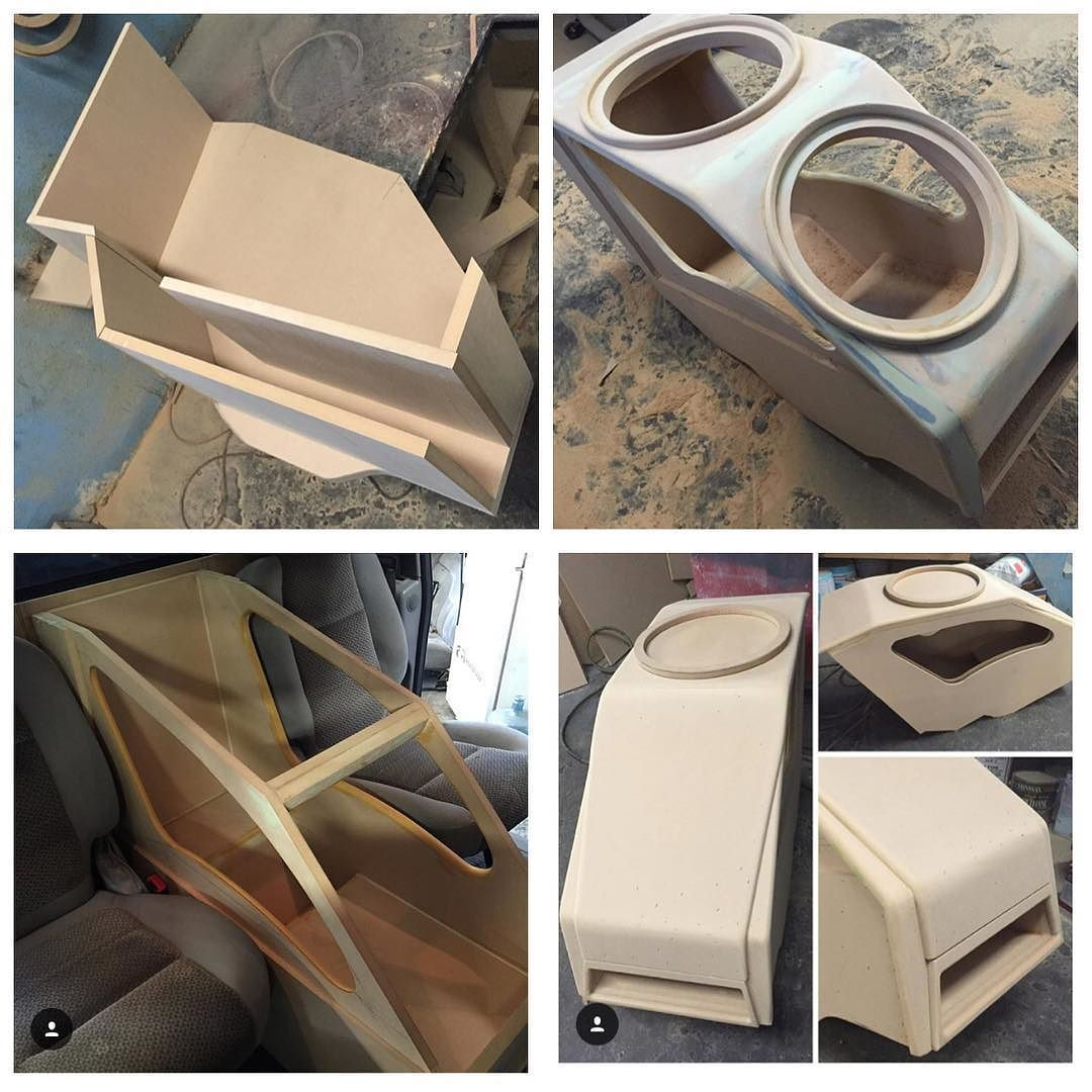 This One Is Going To Be One Sick Center Console Box For 2 15 S Centerconsole Custom Car Audio Car Console Custom Car Interior
