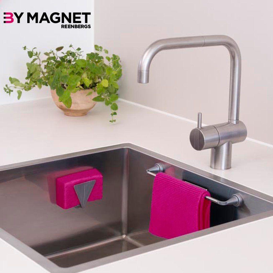Magnetic Dishcloth Holder Etsy Sponge Holder Kitchen Sink Caddy Sink