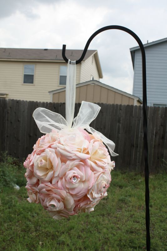 My DIY Coffee Filter Flower Balls Pomanders Wedding Aisle Black Ceremony Diy Flowers Coffeefilterballs2
