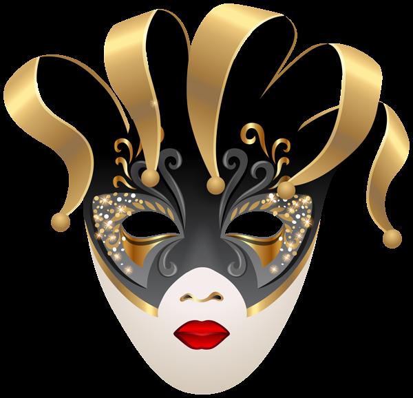 Venetian Carnival Mask PNG Clip Art Image