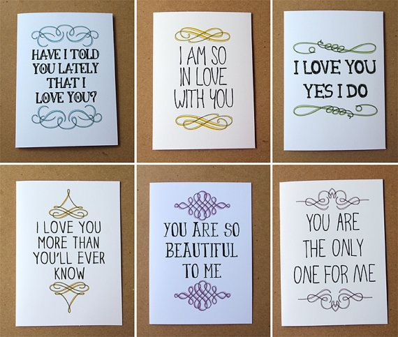 valentine card i love you yes i do card mini by letterhappy – What to Say on Valentines Card