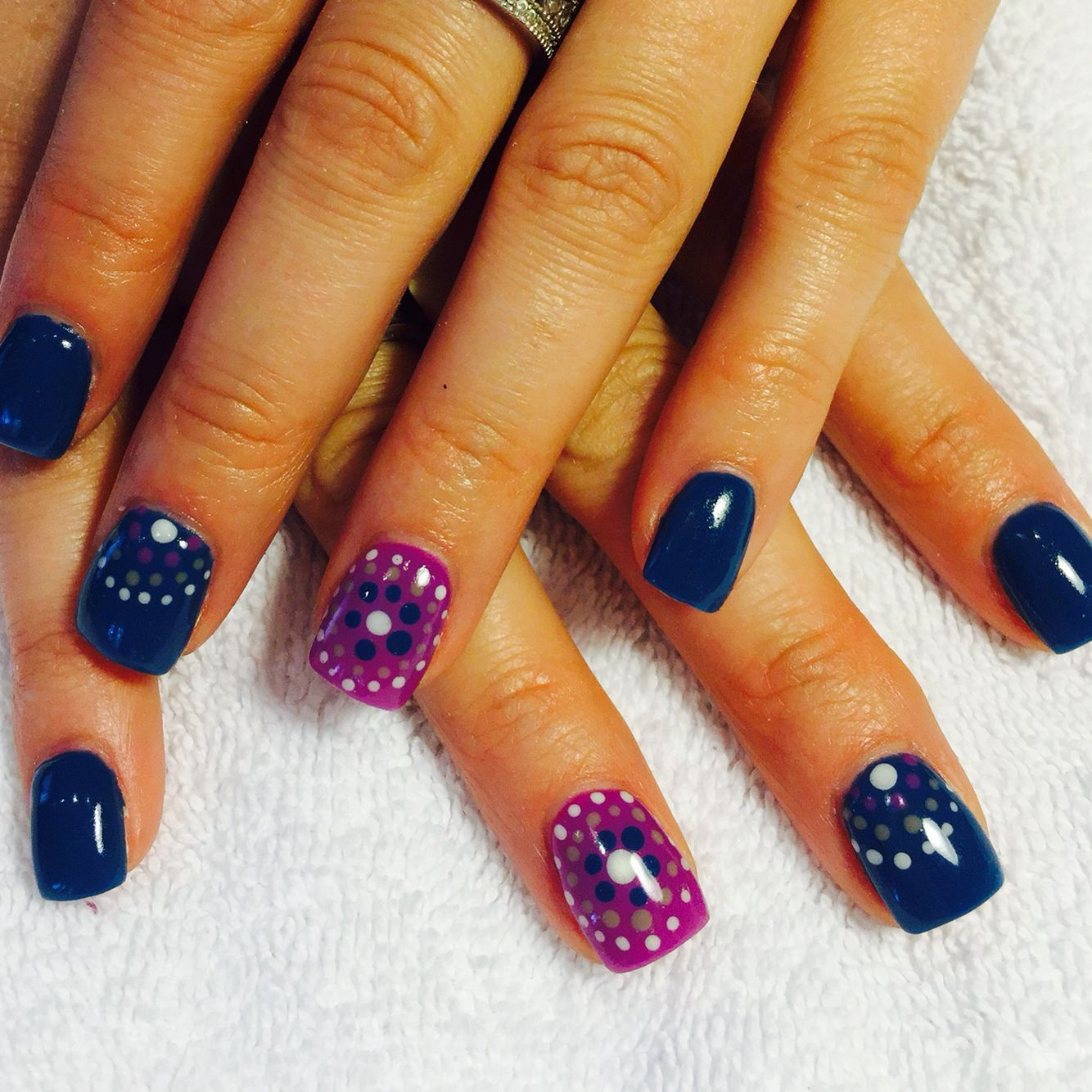Pinterest inspired gel nails | Nails by...Me! | Pinterest