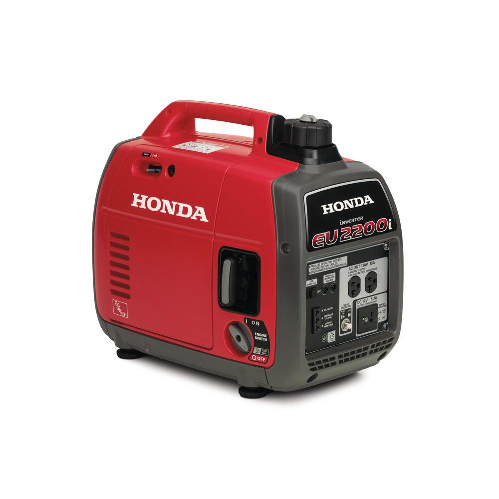 Honda 2 200 Watt Super Quiet Gasoline Powered Portable Inverter Generator With Eco Throttle A Portable Inverter Generator Inverter Generator Portable Generator