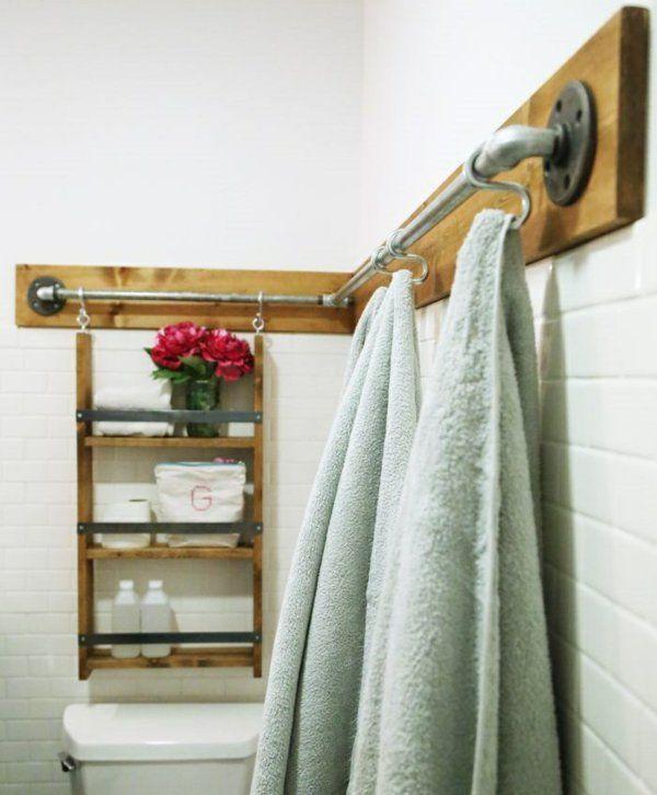 Holzregale Kleines Bad Einrichten