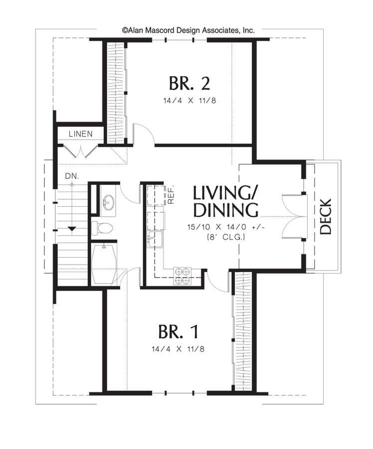 Garage Apartment Plans 2 Bedroom: Plan 5016 - The Athena In 2019