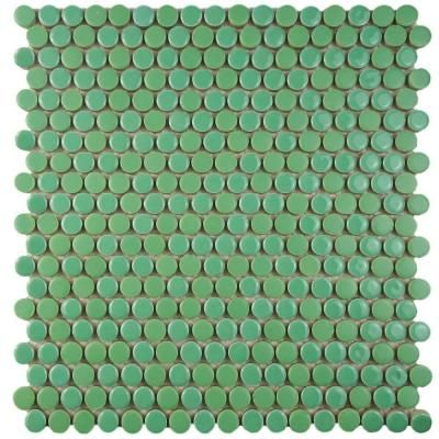 Merola Tile Comet Penny Round Capri 11-3/4 in. x 11-3/4 in. x 8 mm Porcelain Mosaic Floor and Wall Tile
