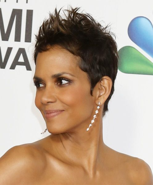 updo for black hair styles halle berry spiked pixie haircut for black 6888