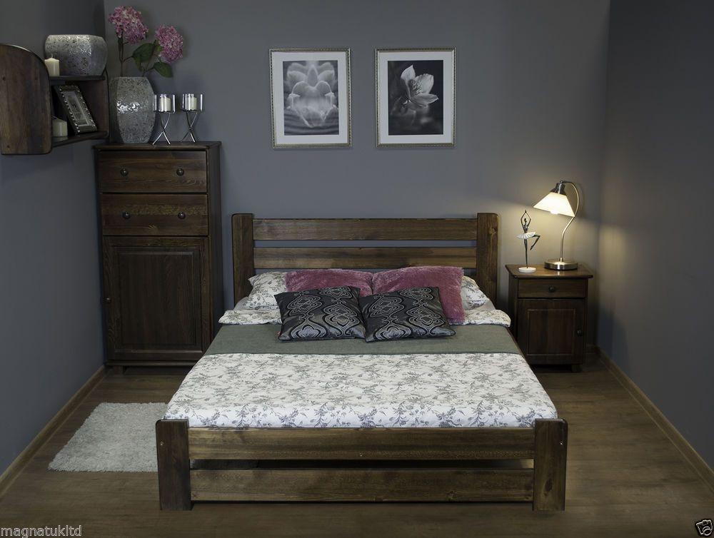 Nodax Wooden Furniture Solid Pine Bedframe King Size 5ft Uk