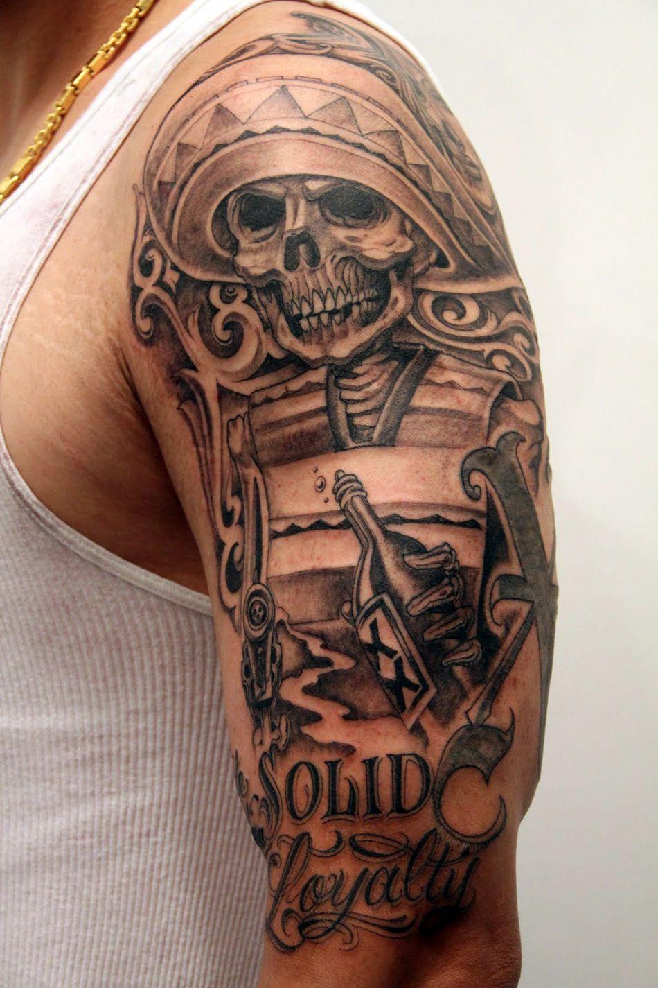 Aztec skull warrior tattoos designs aztec tattoos design