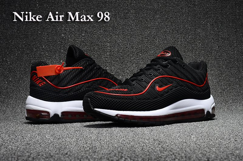 Air Max 98 Men Black Red White Nike Air Shoes fbd7d27e7