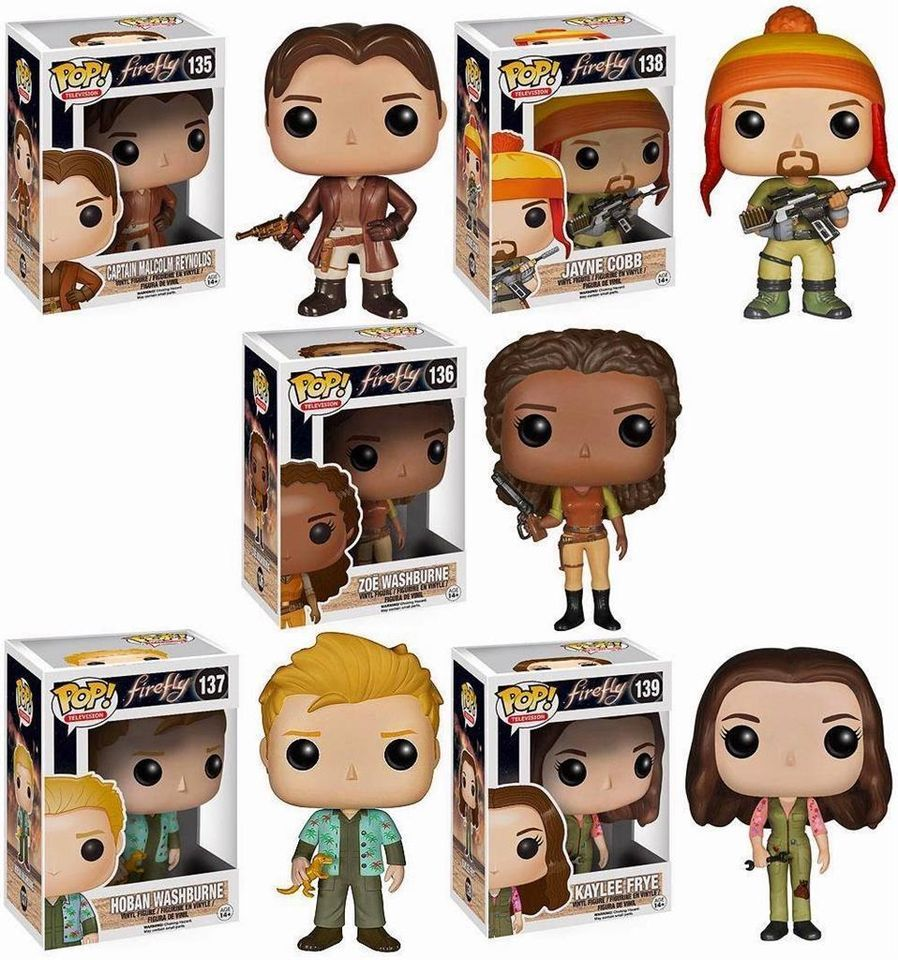 Firefly Serenity 5pc Complete Set Mal Jayne Zoe Wash