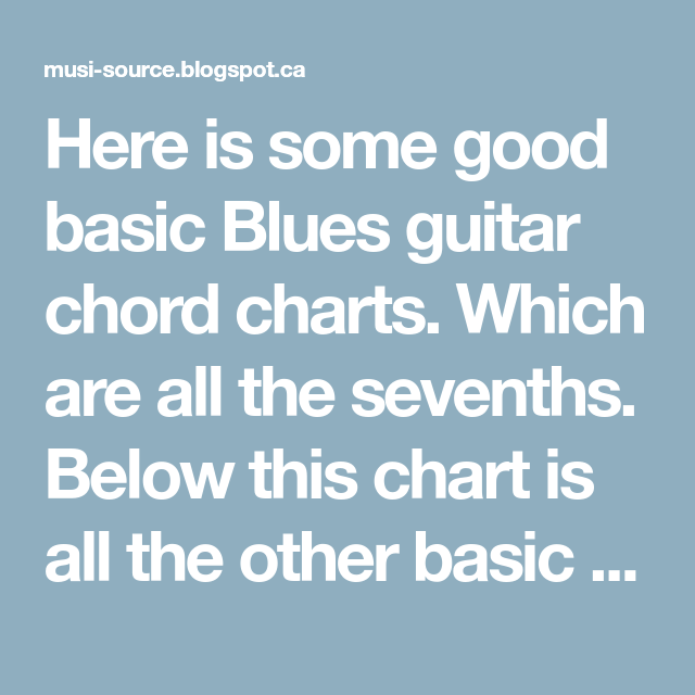 Blues Guitar Chords Chart Images Guitar Chord Chart With Finger