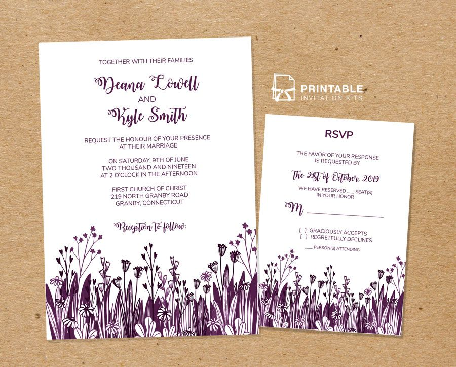 Print Your Own Beautiful Wedding Invitations At Home With These Free Pdf Templates
