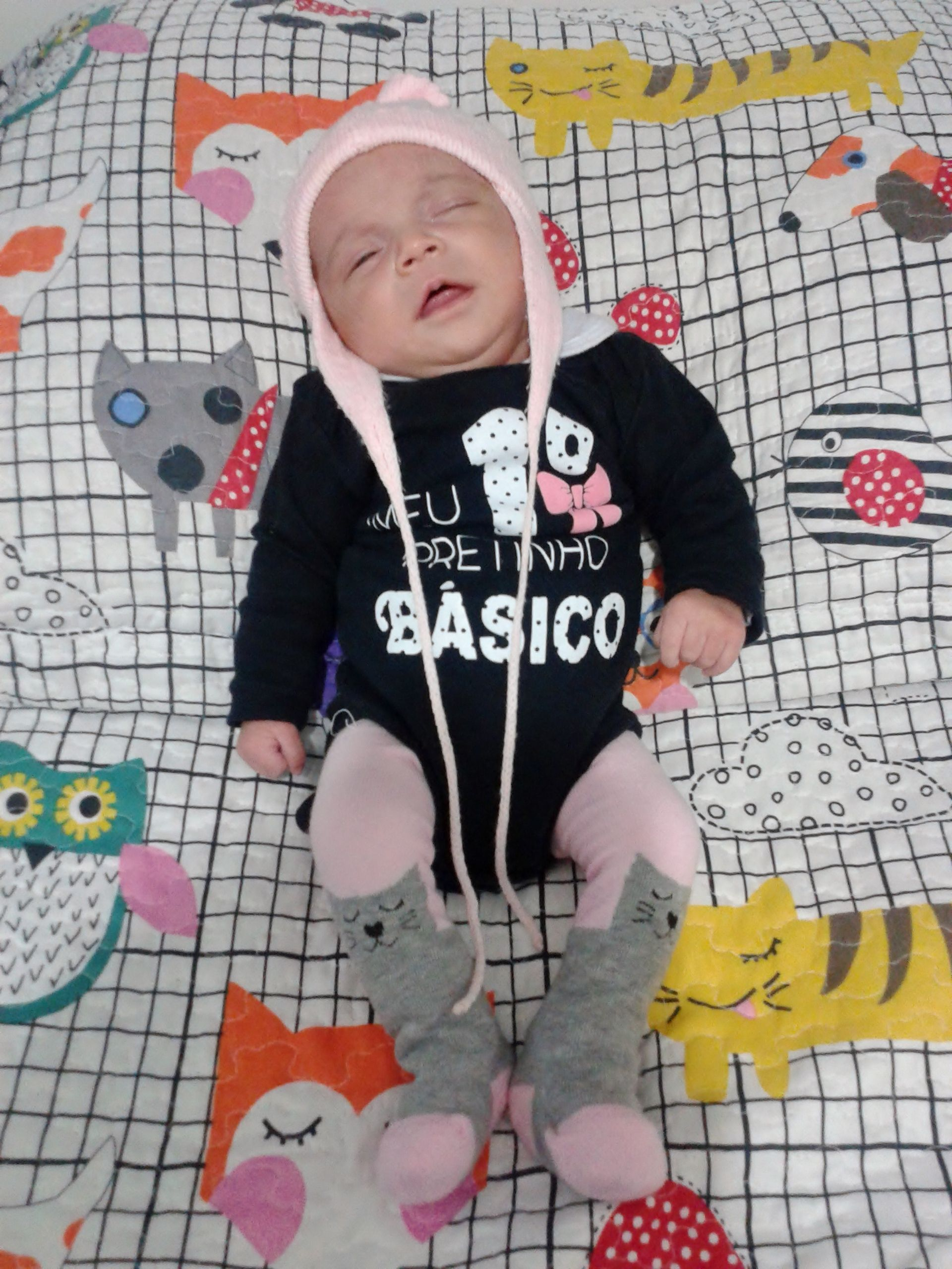 Pretinho básico, body, bebê fofo, meia calça de gatinho, touca boliviana,