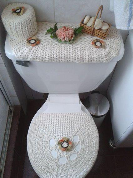 Decoracion de ba os tejidos a crochet buscar con google for Set de bano tejidos