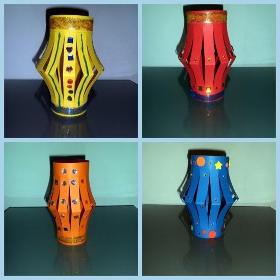Lanterne chinoise bricolage enfant nouvel an chinois - Lanterne chinoise papier ...