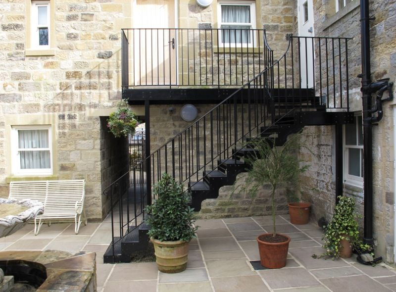 External Staircase At The Yorke Arms Ramsgill Harrogate