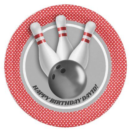 sc 1 st  Pinterest & Boyu0027s Bowling Theme Birthday Party Paper Plate