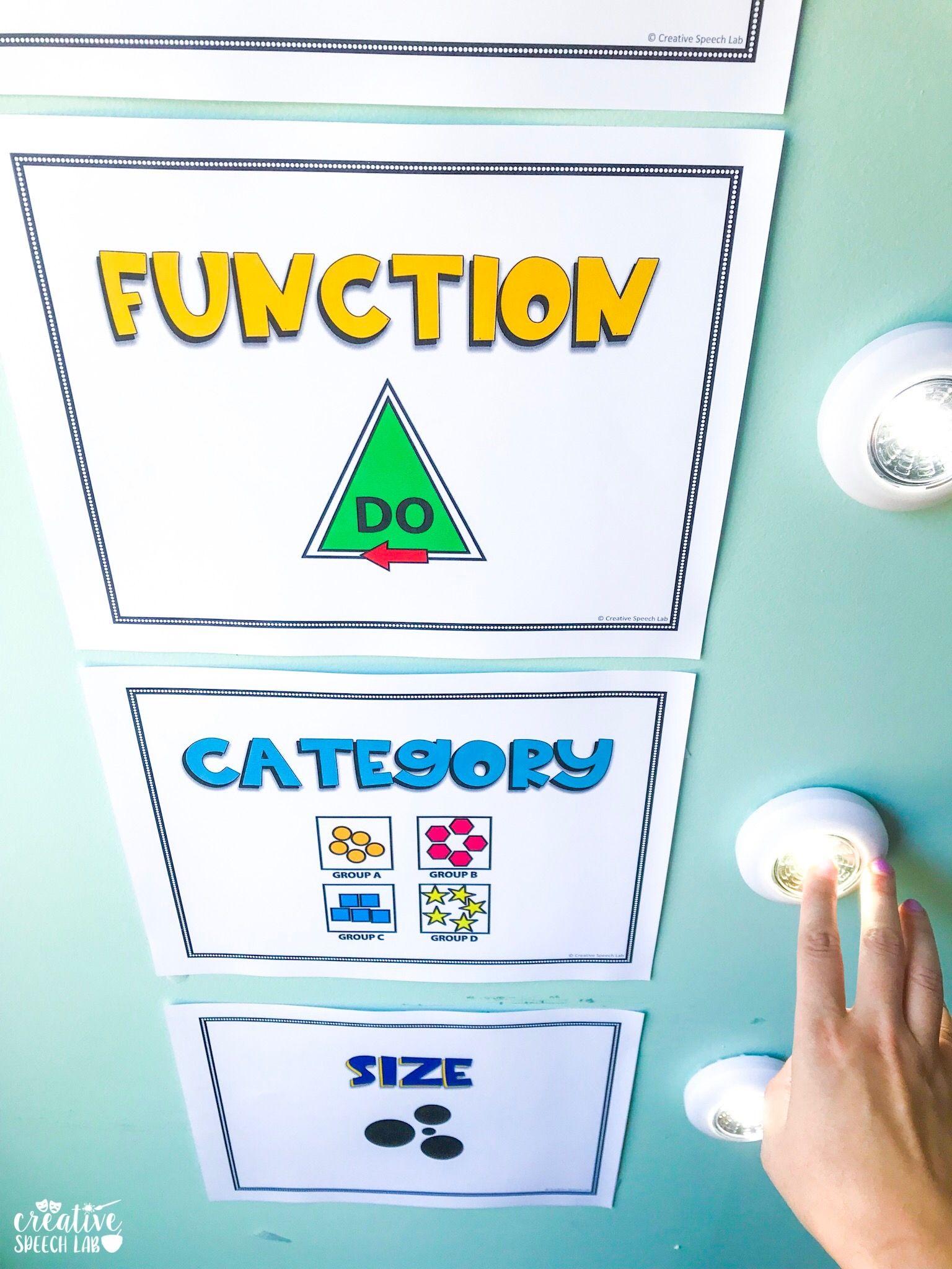 Interactive Speech Therapy Room Decor #elementaryclassroomdecor