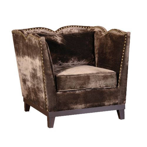 This Gorgeous Chocolate Brown Armchair Is Upholstered In Smooth Sumptuous Velvet It Will Instantly Create That Boudoir Look