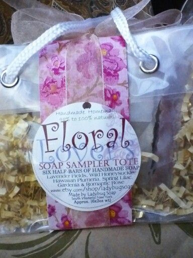 Floral Lover's Soap Sampler Tote