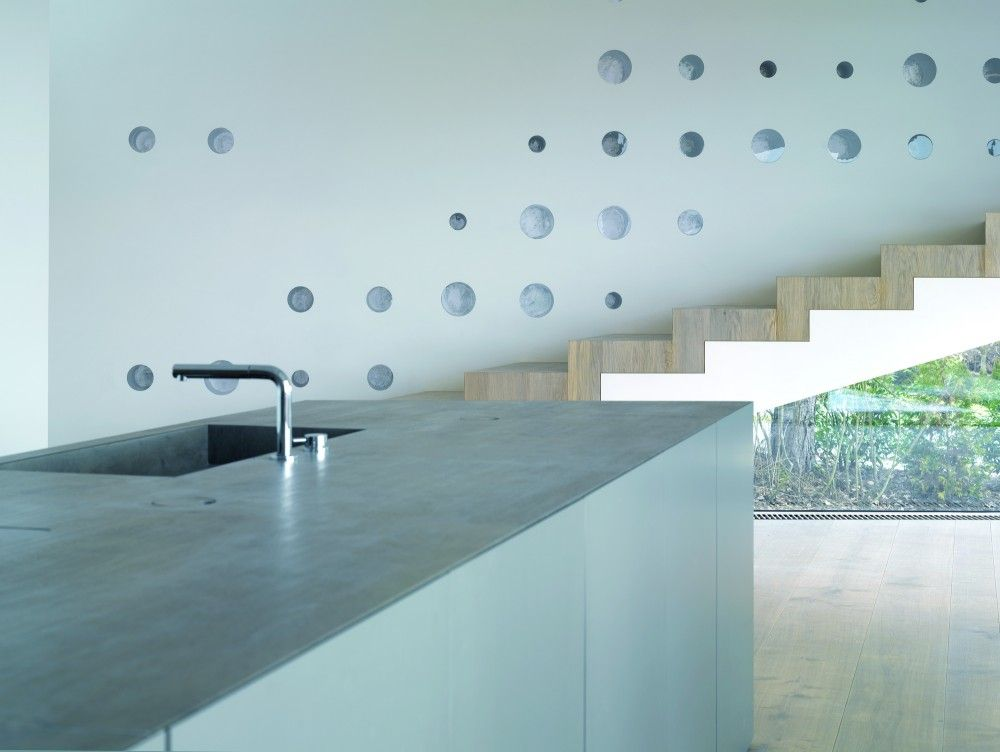 House R / Bembé Dellinger Architekten    Thin Slab Concrete(?) Countertop