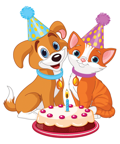 40+ Animated Cat Birthday Clipart