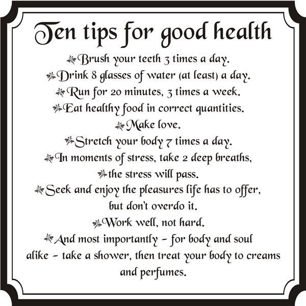 Ten Tips For Good Health  Laline Usa  Medicare Online