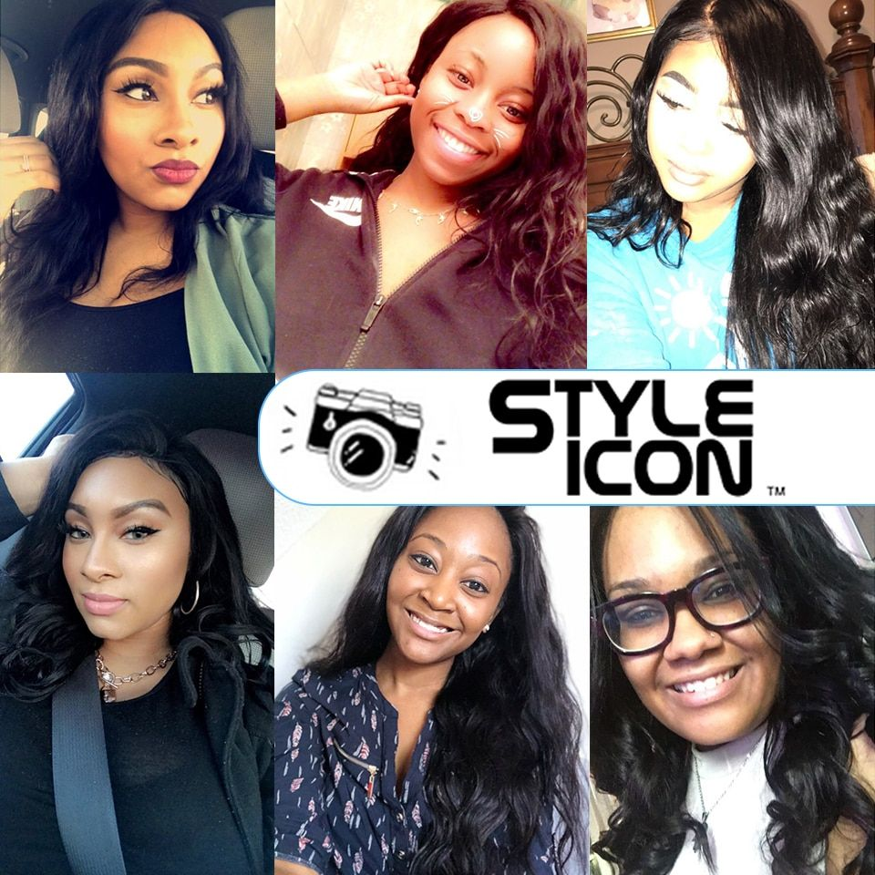 3/4 Bundles With Closure Human Hair Weaves Styleicon 360 Lace Frontal With Bundle Peruvian Body Wave Non Remy Human Hair Weave 4 Bundles With Pre Plucked Frontal Closure