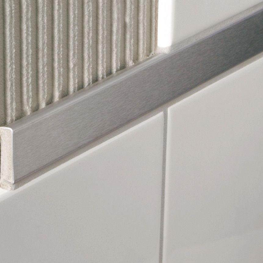 "Decorative Bullnose Tile Trim Decoline 96"" X 15"" Bullnose Tile Trim In Chrome Plated Brass"