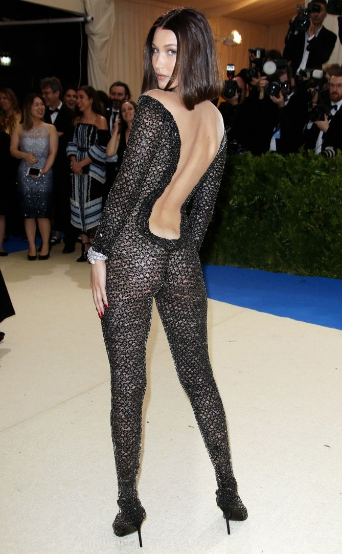 cd25e50c283 See Every Met Gala 2017 Gown From the Back - Bella Hadid in Alexander Wang