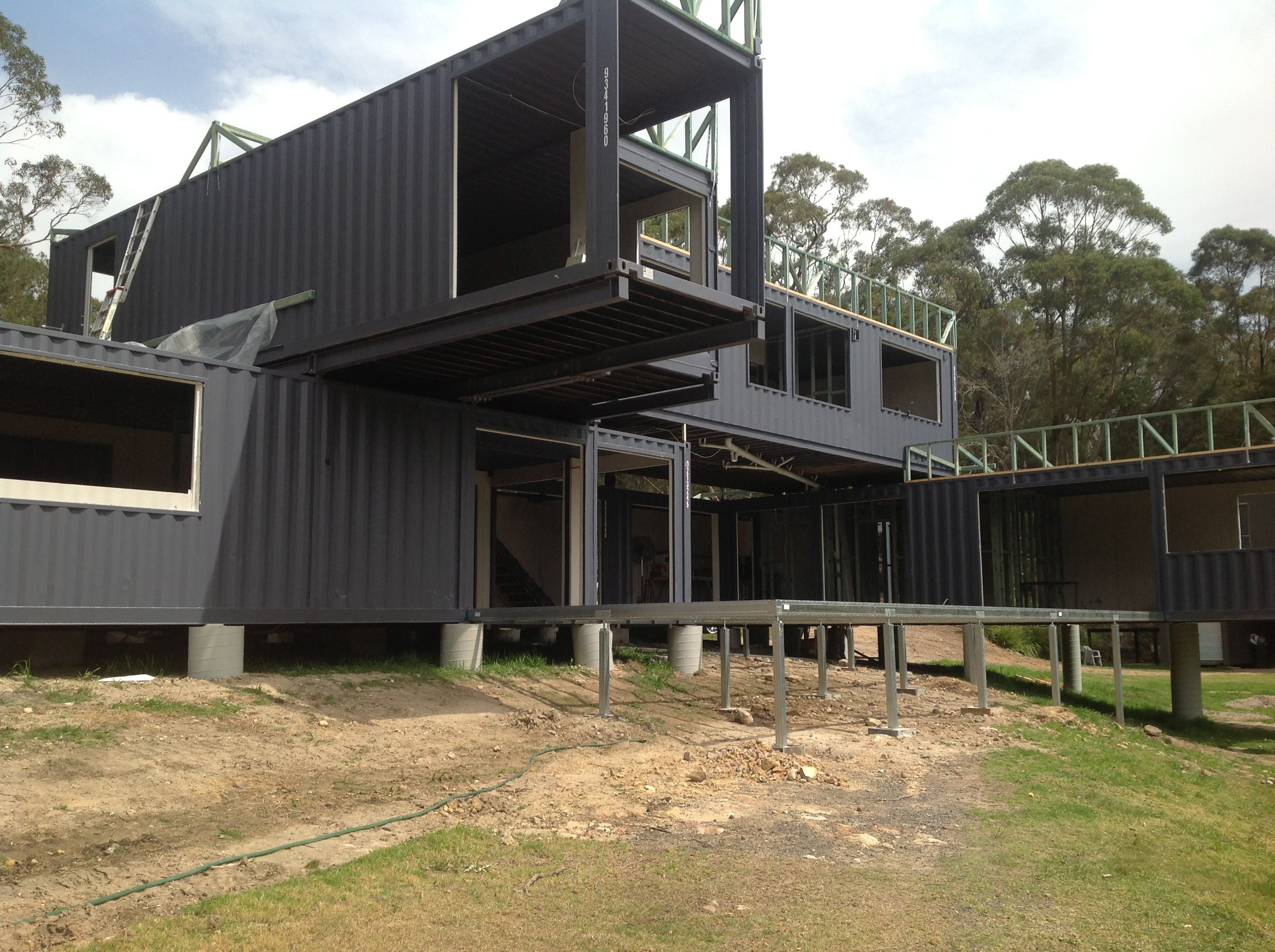 Two Y Shipping Container Home With Spantec Boxspan Floor Framing