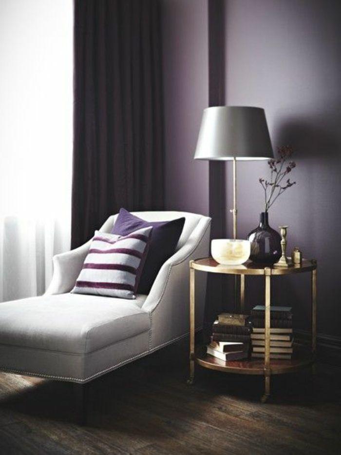 couleur prune pour les murs dans le salon joli canape beige - Chambre Beige Et Prune