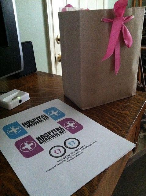 hospital survival kit for new moms   free printables