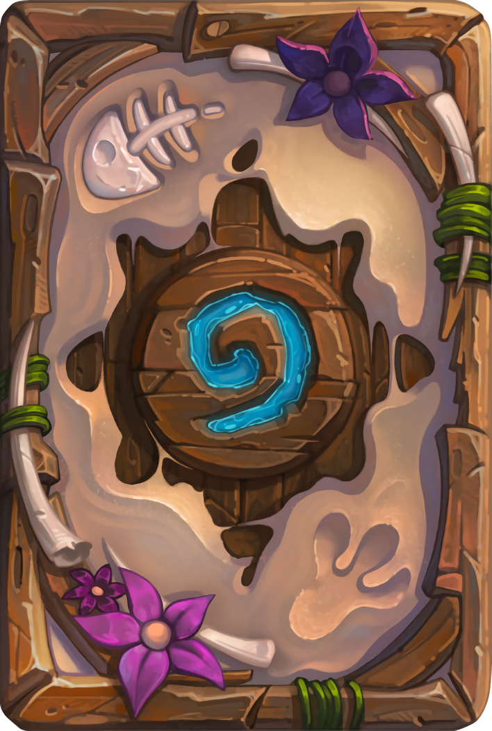 Card Back Tanned Tinyfins Artist Charlene Le Scanff Warcraft Art Hand Painted Textures Hearthstone