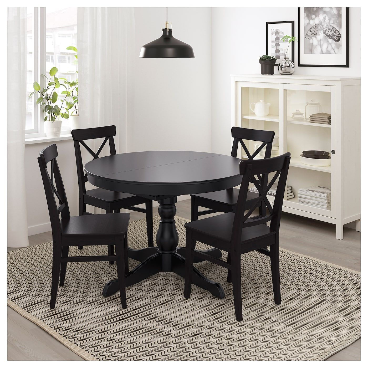Ingatorp Extendable Table Black Ca Ikea Dining Table Black