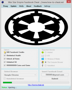 War Star Empire Facebook Hacks Download 2017 ⋆ Hack Tool