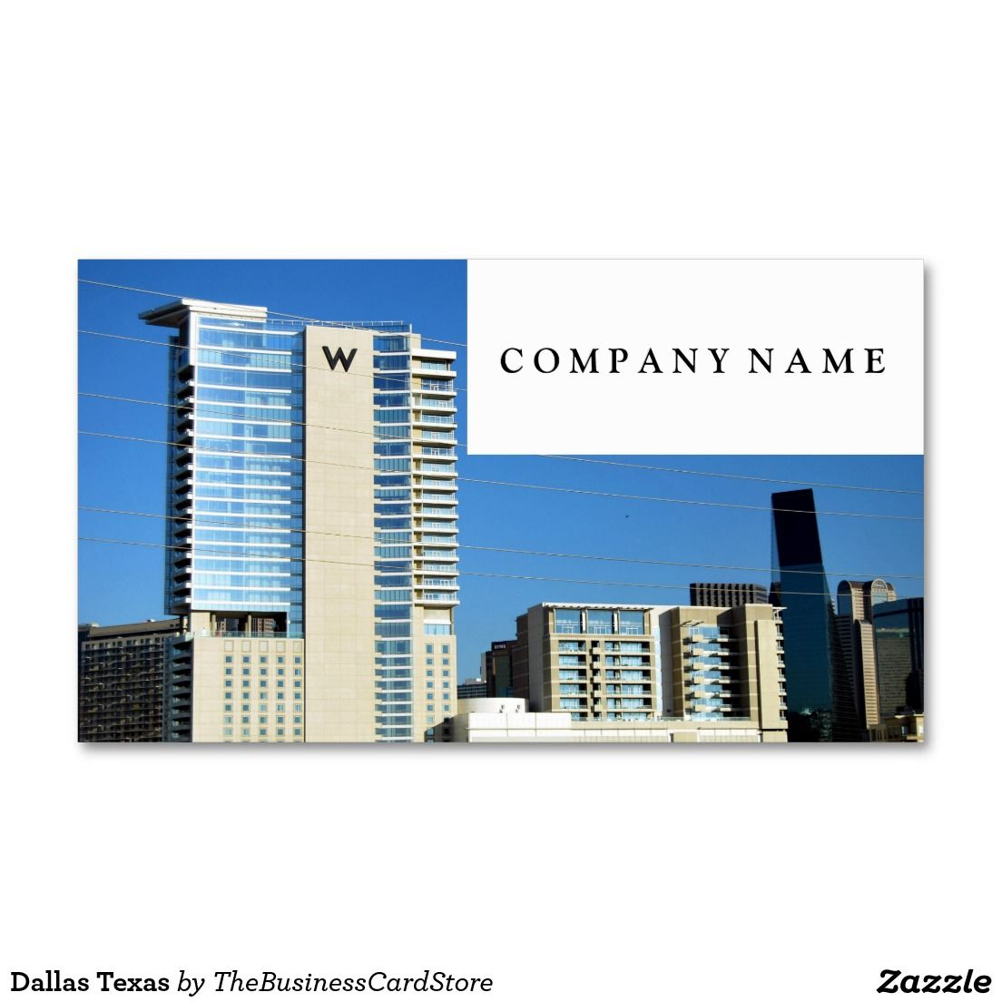Dallas Texas Standard Business Card | AMERICAN BUSINESS CARDS FROM ...