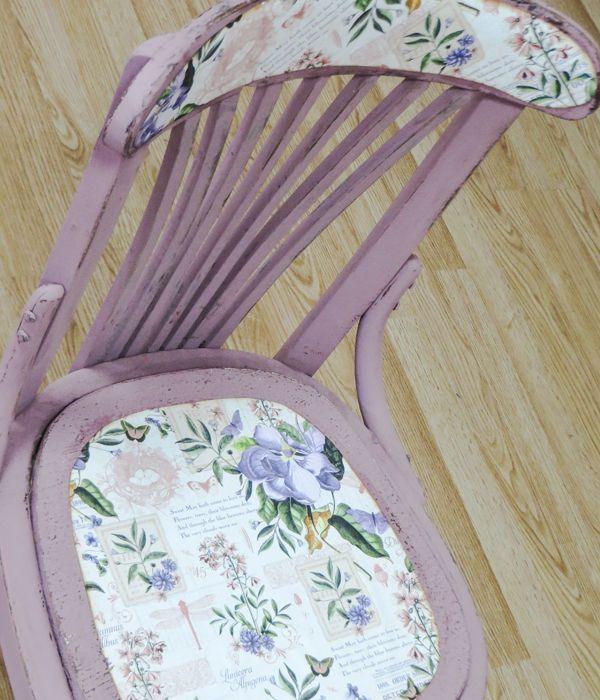 Convertimos una vieja silla en una pieza a la moda for Sillas para viejitos