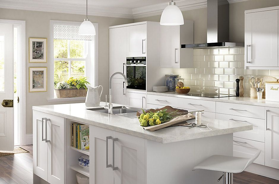 Classic White Kitchen it stonefield white classic style | diy at b&q | belo