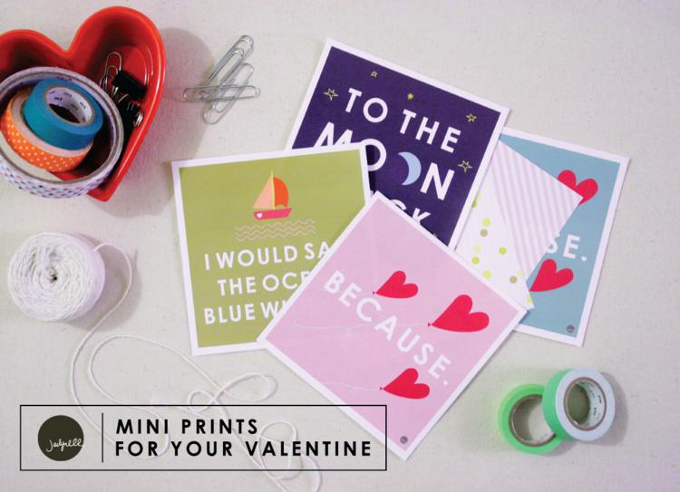 mini prints for your valentine / designedbyjaclyn
