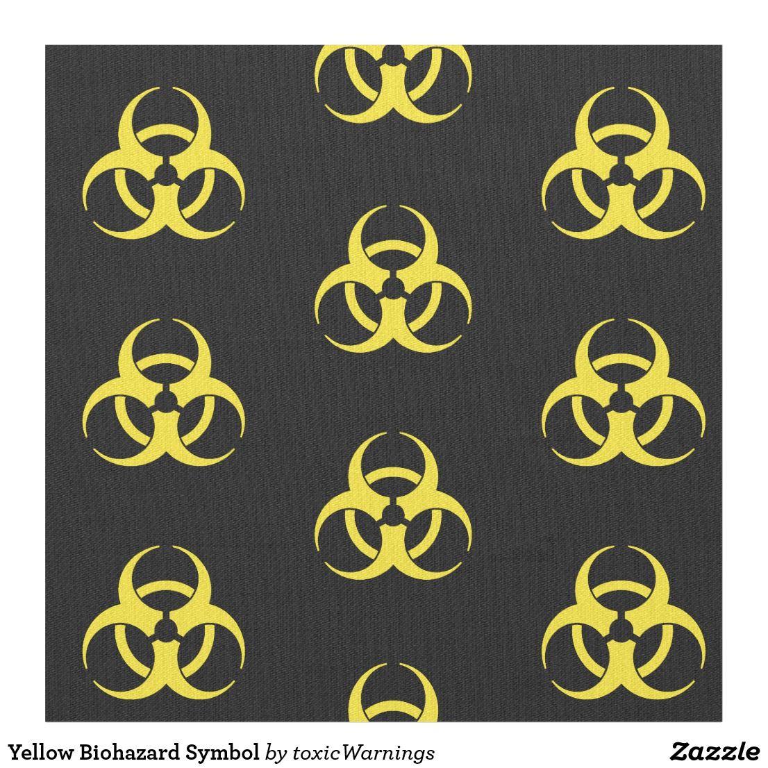 Yellow biohazard symbol fabric toxic warnings pinterest symbols yellow biohazard symbol fabric biocorpaavc Images