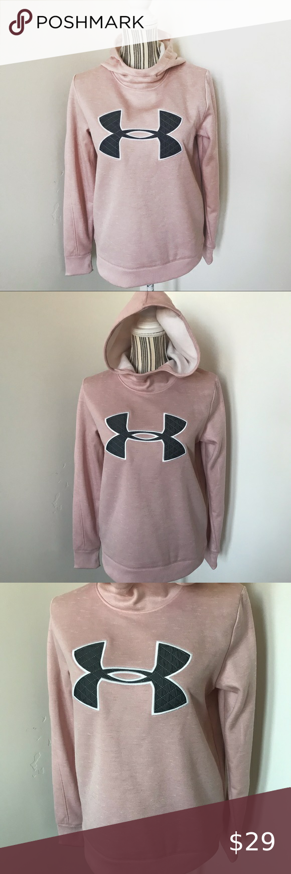 Women S Under Armour Pink Big Logo Hoodie Under Armour Big Logo Hoodie Pink Under Armour Sweatshirt Pink And Gray Super Cu Pink Hoodie Warm Hoodie Under Armour [ 1740 x 580 Pixel ]